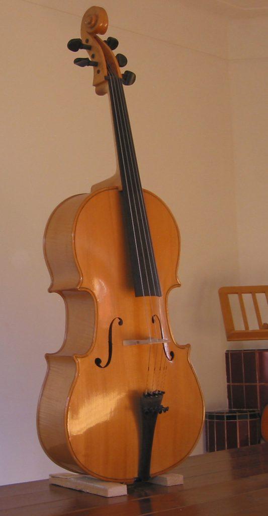 violoncello piccolo voorzijde
