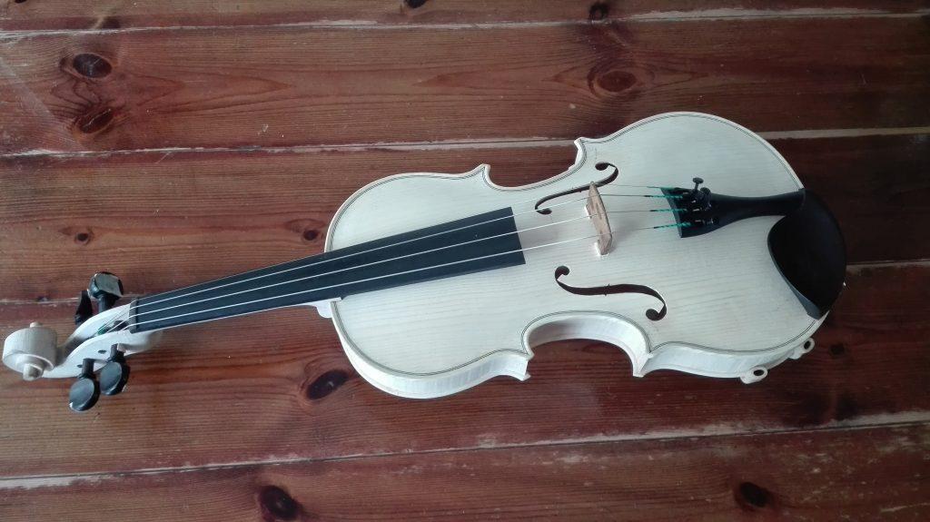 vioolbouw utrecht Yadava ongelakte viool